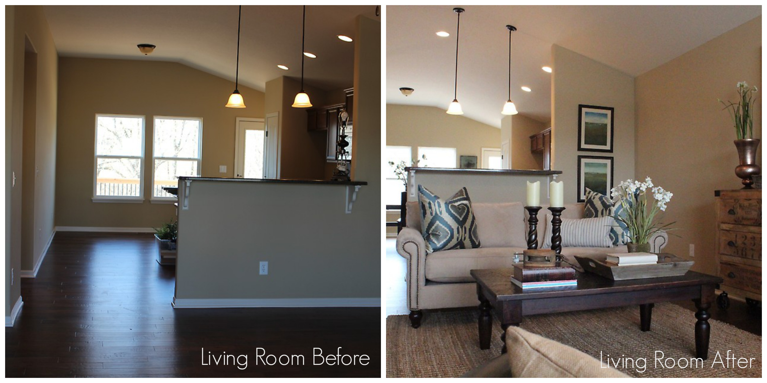 Home Staging Before and After Houston Texas